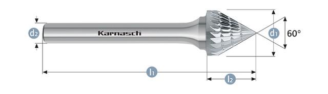 Борфреза зенкер 60 KSJ(Тип J) без покрытия