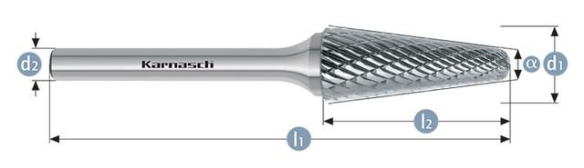 Борфреза коснус закругленный KEL(Тип L) без покрытиия