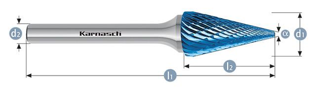 Борфреза коснус SKM(Тип M) с покрытием BLUE-TEC