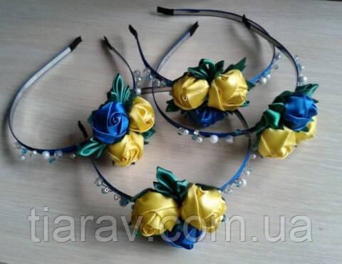 Обруч для волос ободок украинский Украинка венок украшения для волос