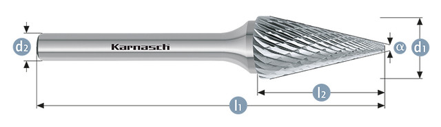 Борфреза коснус SKM(Тип M) без покрытия