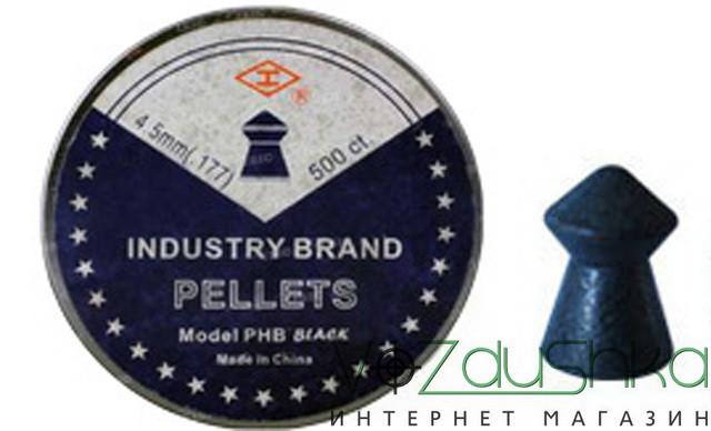 пули для пневматики Industry Brand PHB Black Pointed