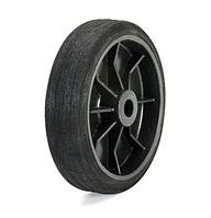 Колесо из синтетической черной резины диаметр 150 мм