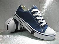 Кеды  подростковые синие 36р., фото 1