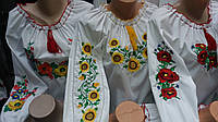Женская вышиванка на батисте