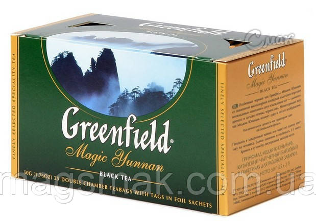 Чай Greenfield Magic Yunnan, 25 пакетов