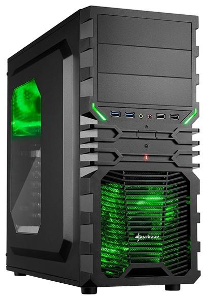 "Корпус Sharkoon VG4-W Green ""Over-Stock"""