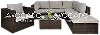 Комплект плетених меблів з ротангу PULA II  + крісло BRAUN  240х228см