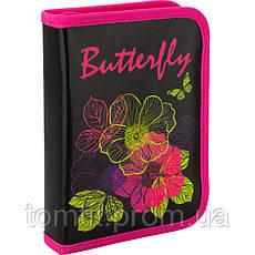 Пенал - книжка Blossom раскладной с 1 отворотом, ТМ Kite, фото 3