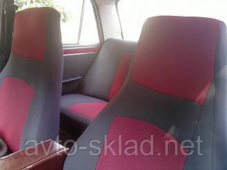 Чехлы сидений ВАЗ 2104, 2107 Красные, высокая спинка, авто чехлы