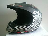 Шлем BLD Cross Кроссовый черно-серебристый