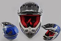 Шлем X-DRIVE 435 кроссовый синий