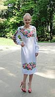 Заготівля жіночої сукні для вишивки нитками/бісером БС-10с