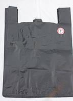 """Пакет полиэтиленовый """"Майка""""50 х 110 см, черный-T910"""