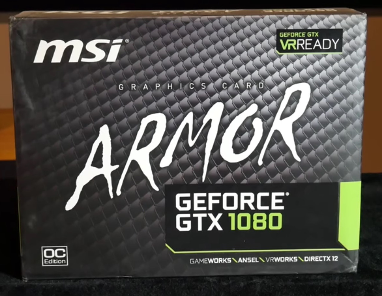 Видеокарта MSI GeForce GTX 1080 ARMOR 8G OC
