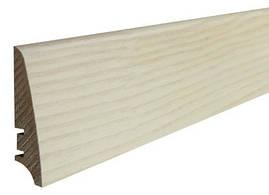 Плинтус Ясень белый матовый лак 78мм. Barlinek