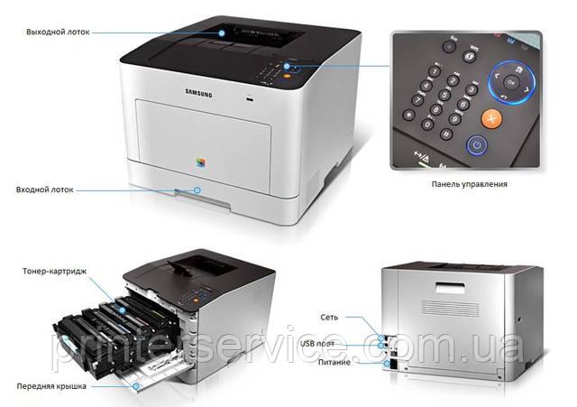 Высокопроизводительный цветной лазерный принтер А4 Samsung CLP-680ND