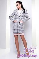 Женское шерстяное пальто (р. S, M, L) арт. Вейси шерсть рогожка 14379