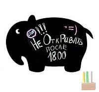 Магнитная доска для мела Слон  в подарочном тубусе