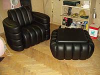 Кресло и пуф на заказ Киев