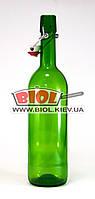 Бутылка 0,75л стеклянная с бугельной крышкой ЗЕЛЕНАЯ