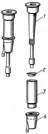 Сборка комбинированного доильного стакана