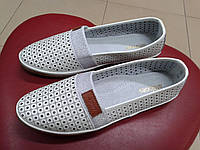НОВИНКА!!! Летние женские туфли с перфорацией из нат. кожи  ALLSHOES 5709 белые, фото 1