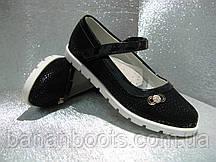 Туфли чёрные на девочку 30р.32р.