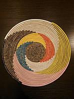 Плетенная ваза-блюдо ручной работы var.3