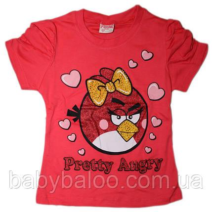Футболка детская Angry Birds (рост от 104 см до 128см), фото 2