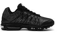 """Кроссовки мужские Nike Air Max 95 Ultra Jacquard """"All Black"""", фото 1"""