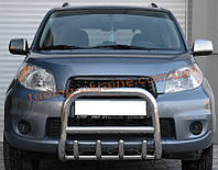 Защита переднего бампера кенгурятник из нержавейки на Citroen Berlingo 1996-2008