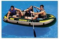Надувная лодка Intex 68349 SeaHawk Трёхместная, фото 1