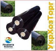 Пленка черная полиэтиленовая 80 мкм ( для мульчирования, строительства) 1,5 м рукав 3 м в развароте