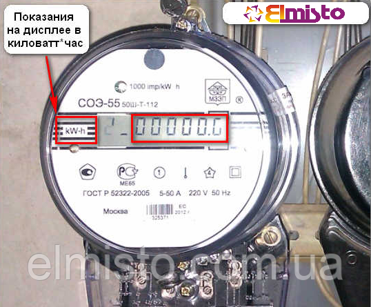 Отличие киловатт от киловатт·час на примере электросчетчика