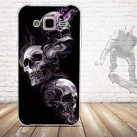 Чохол для Samsung Galaxy J5 J500h з картинкою три черепа