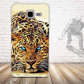 Чохол для Samsung Galaxy J5 J500h з картинкою леопард