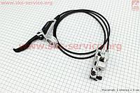 Тормоз дисковый гидравлический задний  серый BR-M447 + BL-M445