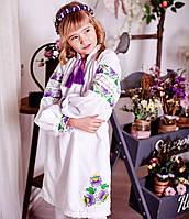 Плаття вишите Петриківський розпис (6-12 років), фото 1