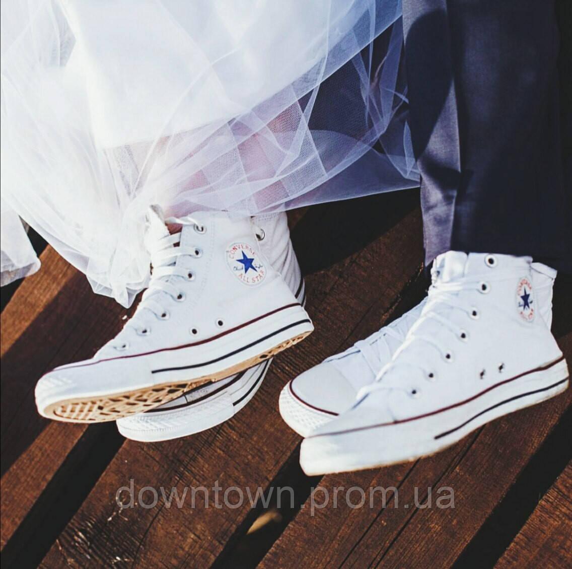Converse All Star высокие белые white (35 45)