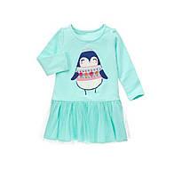 Платье с длинным рукавом на девочку 2, 3, 4 года Penguin Dress Gymboree (США)