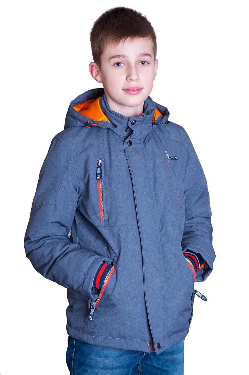 Підліткова демісезонна куртка, сірого кольору.
