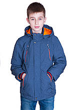 Підліткова демісезонна куртка, синього кольору.
