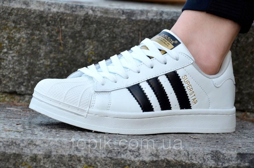 Женские белые кроссовки кеды стильные кожаные вставки прошитая подошва (Код: 475а)