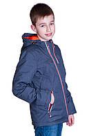 Демисезонная куртка (подростковая) Black Wolf. Цвет темно серый. Код 182