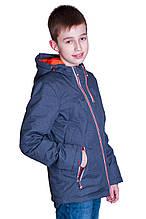 Підліткова демісезонна куртка, темно-сірого кольору.