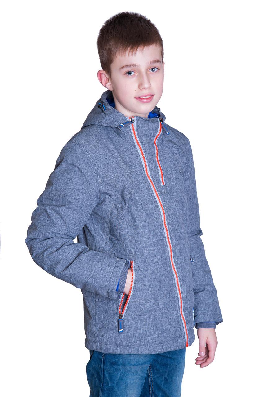 Підліткова демісезонна куртка, світло-сірого кольору.