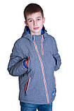 Підліткова демісезонна куртка, світло-сірого кольору., фото 3