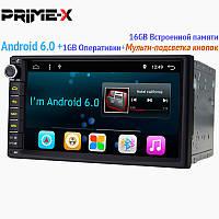 Универсальная магнитола Prime-X A6 (Android 6.0)