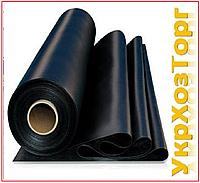 Пленка черная полиэтиленовая 100 мкм (для мульчирования,строительства ) 1,5 м рукав 3 м в развароте
